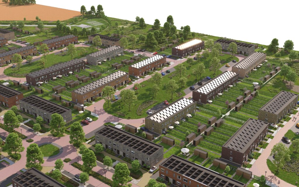 impressie van de nieuwe wijk in Almere
